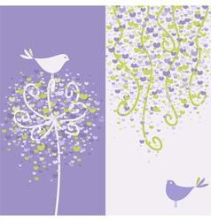 love birds vector image vector image