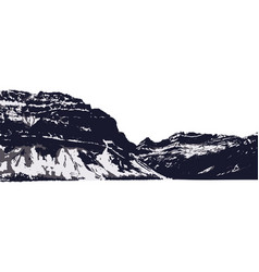 mountain silhouette vector image vector image