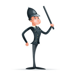 Order law policeman 3d security protection cartoon vector