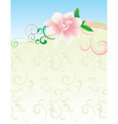 pink flower nature picture vector image vector image
