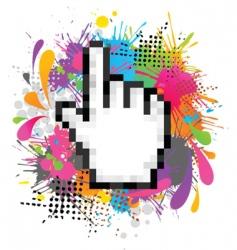 pixel cursor hand vector image