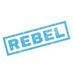 Rebel rubber stamp vector
