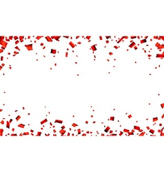 Red confetti celebration banner vector image vector image