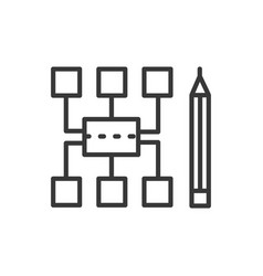Sitemap - modern line design icon vector
