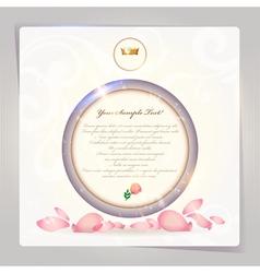 Vintage rose bubble vector