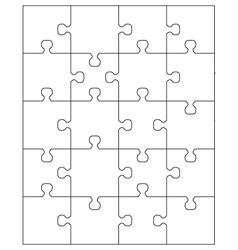 White puzzle 2 vector