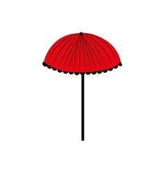 Umbrella red weather rain icon graphic vector