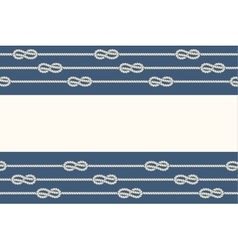Marine ropes and knots borders frame vector