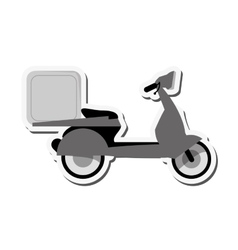 Motorcycle box transportation delivery design vector
