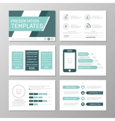 Set of turquoise template for multipurpose vector image