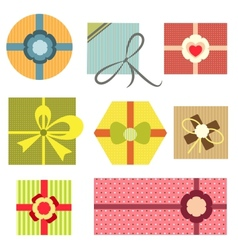 Collection of present boxes vector