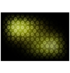 Green vintage wallpaper with flower pattern vector