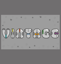 Vintage unusual font vector
