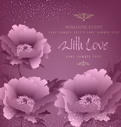 Romance background vector
