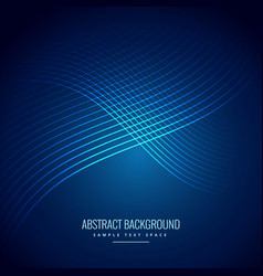 Blue background with curve lines pattern vector