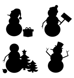Snowman Silhouette vector image