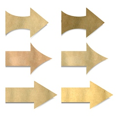 Old paper arrows set vector