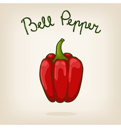 Cute of bell pepper vector image