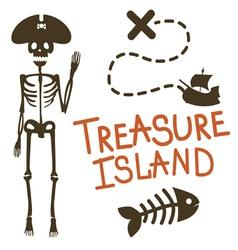 Treasure island pirate design vector image