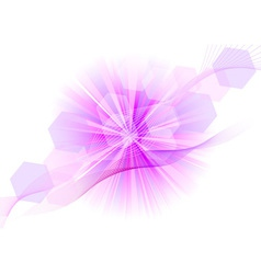 purple explosive on the white vector image