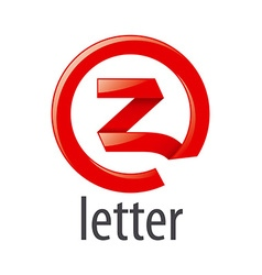 Red round logo letter z vector