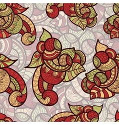 seamless ethnic doodle vector image