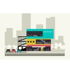 Supermarket on the roadside vector