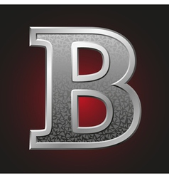 Metal letters b vector image