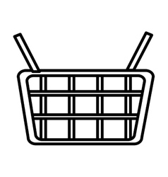 Isolated shopping basket graphic vector