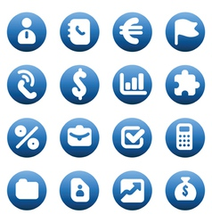 Buttons for business vector