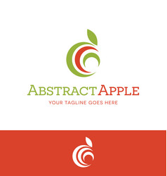 abstract apple for food or nutrition logo vector image