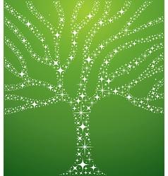 Abstract stars tree vector