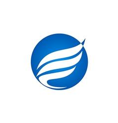 Abstract wing fly bird company logo vector