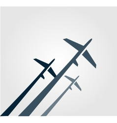 Airplanes background vector