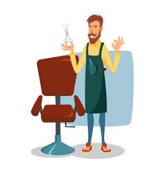barber character modern barber shop vector image