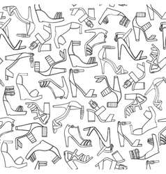 Black and white hand drawn pattern with vector
