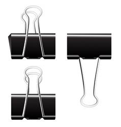 Black paper binder clip vector