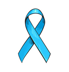 blue satin ribbon prostate cancer awareness vector image