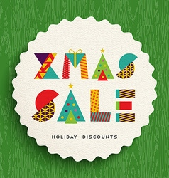Christmas sale tag design for holiday discounts vector image vector image