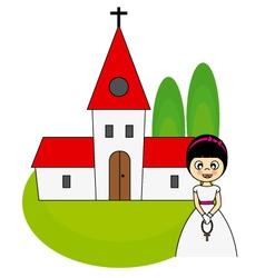 Communion invitation card vector