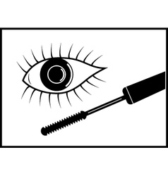Eye and mascara vector image vector image