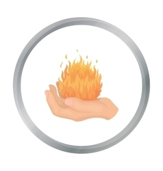 Fire spell icon in cartoon style isolated on white vector image vector image