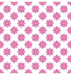 Flat design pink floral seamless pattern vector image