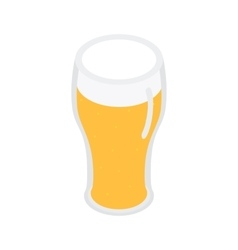 Glass of beer isometric 3d icon vector