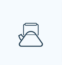 kettle flat icon vector image vector image