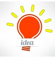 Light bulb inspirational background in modern vector