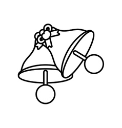 Pictogram bells wedding heart bow symbol design vector