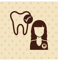 professional dentist design vector image