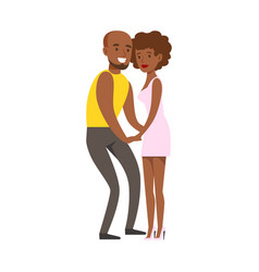 Romantic couple dancing slowly on danceloor part vector