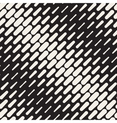 Seamless black and white diagonal rounded vector
